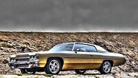 Vintage 1972 Chevy Impala Car Poster 21x36
