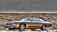 Vintage 1972 Chevy Impala Car Poster 21x36