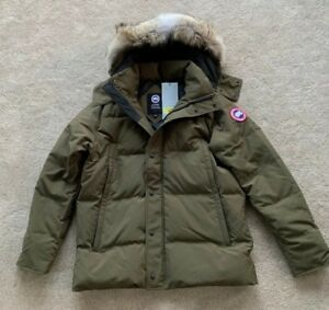 Canada-Goose-Mens-Military-Green-Wyndham-Parka-Coat-Size-XLarge-44-46-Chest-New