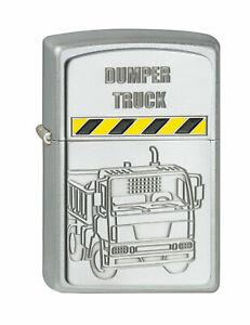 Zippo-2001293-Dumper-Truck-LKW-Emblem-Lighter-Benzin-Sturm-Feuerzeug