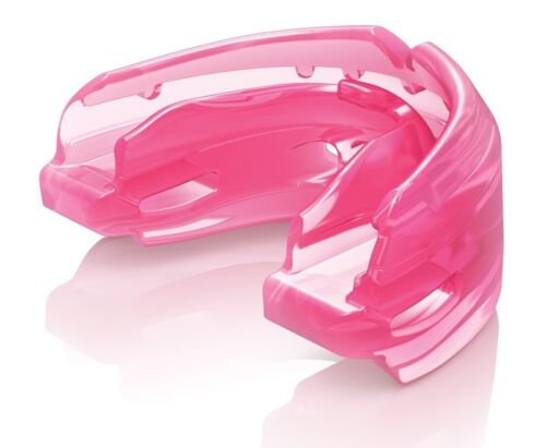 Shock Doctor Double Braces Mouth Guard Gum Shield Pink Martial Arts Sports
