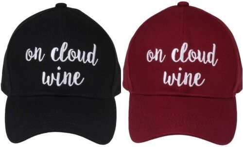 "/""ON CLOUD WINE/"" CC Embroidered Adjustable Ball Cap Hat OS Fits Most"