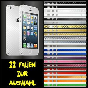 IPHONE-5-FOLIE-WEISS-CARBON-BUMPER-COVER-HULLE-SKIN-SCHALE-CASE