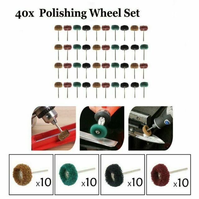 40pcs Wheel Buffing Polishing Wheel Set For Rotary Accessories Tool   Drill Y0S0