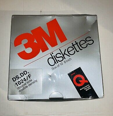 "10 Pack Scotch 3M 8/"" Diskettes DS DD 1024//F Factory Sealed NIP DC 051111 3m# 227"