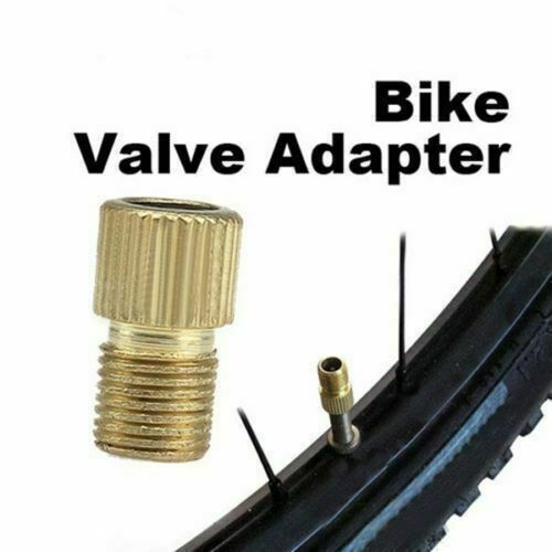2 pcs Presta to US Schrader Valve Adaptor Converter Bicycle Bike Tire Tube Pump