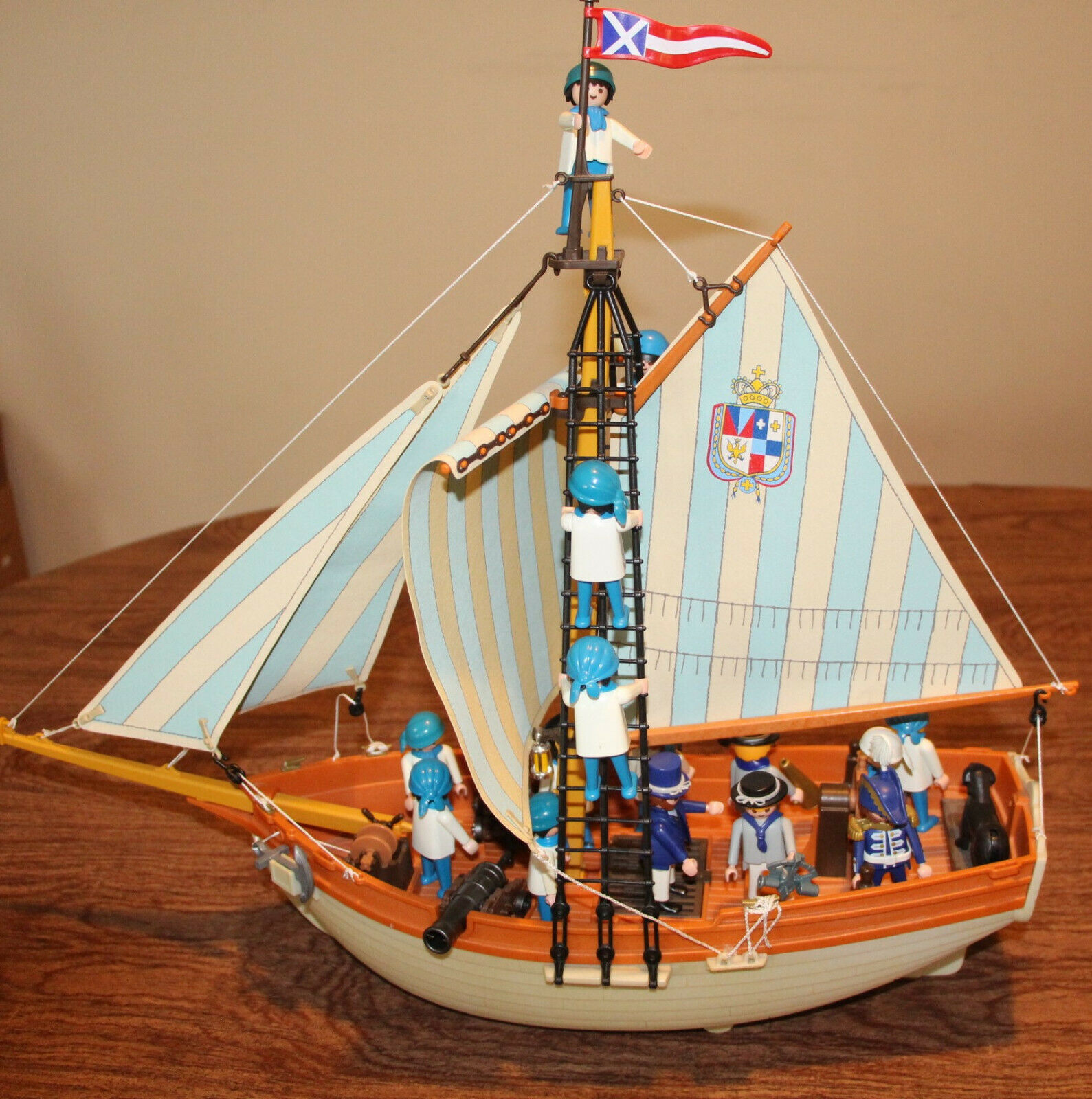 Playmobil English Schooner 3055 3740 with many add ons No box