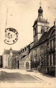 CPA-Luxeuil-les-Bains-Le-Presbytere-et-l-039-Eglise-636338