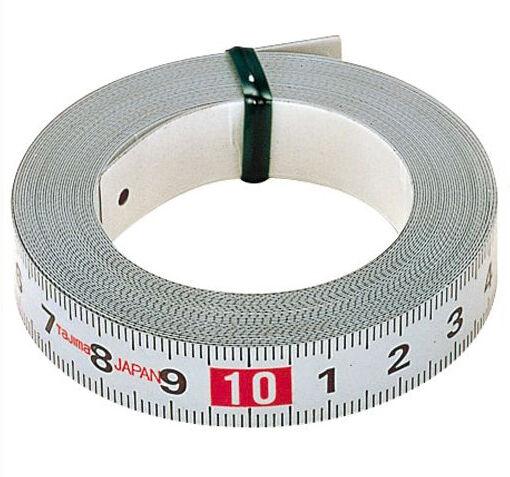Tajima Adhesive Backed Measuring Tape 1m PIT-10 Left to Right