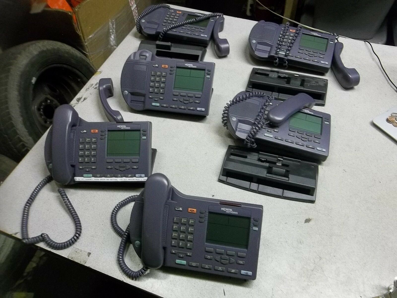 Nortel NTEX00 i2004 Business Office Internet Telephones, Lot of 6 FREE SHIP