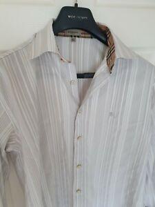 Chic-para-hombre-London-De-Burberry-camisa-de-mangas-largas-Tamano-Grande-Inmaculada-RRP-195