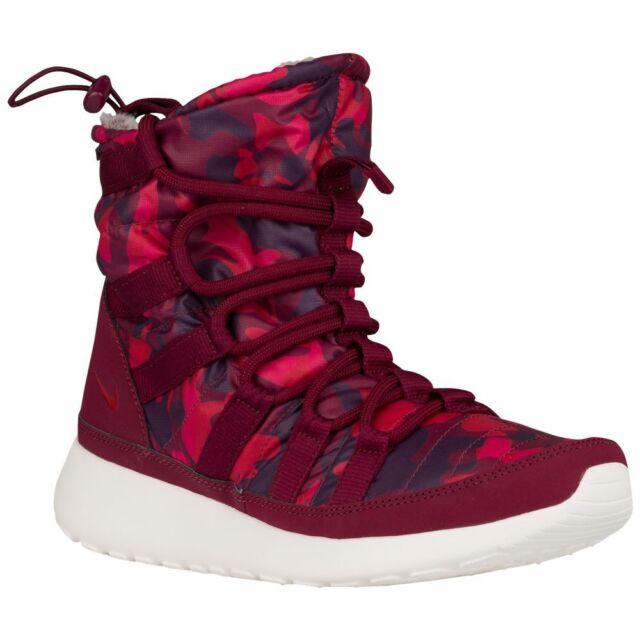 2c09bc391c1c WMNS Nike Roshe One Hi Print Garnet Red Tie Dye Womens BOOTS 807425 ...