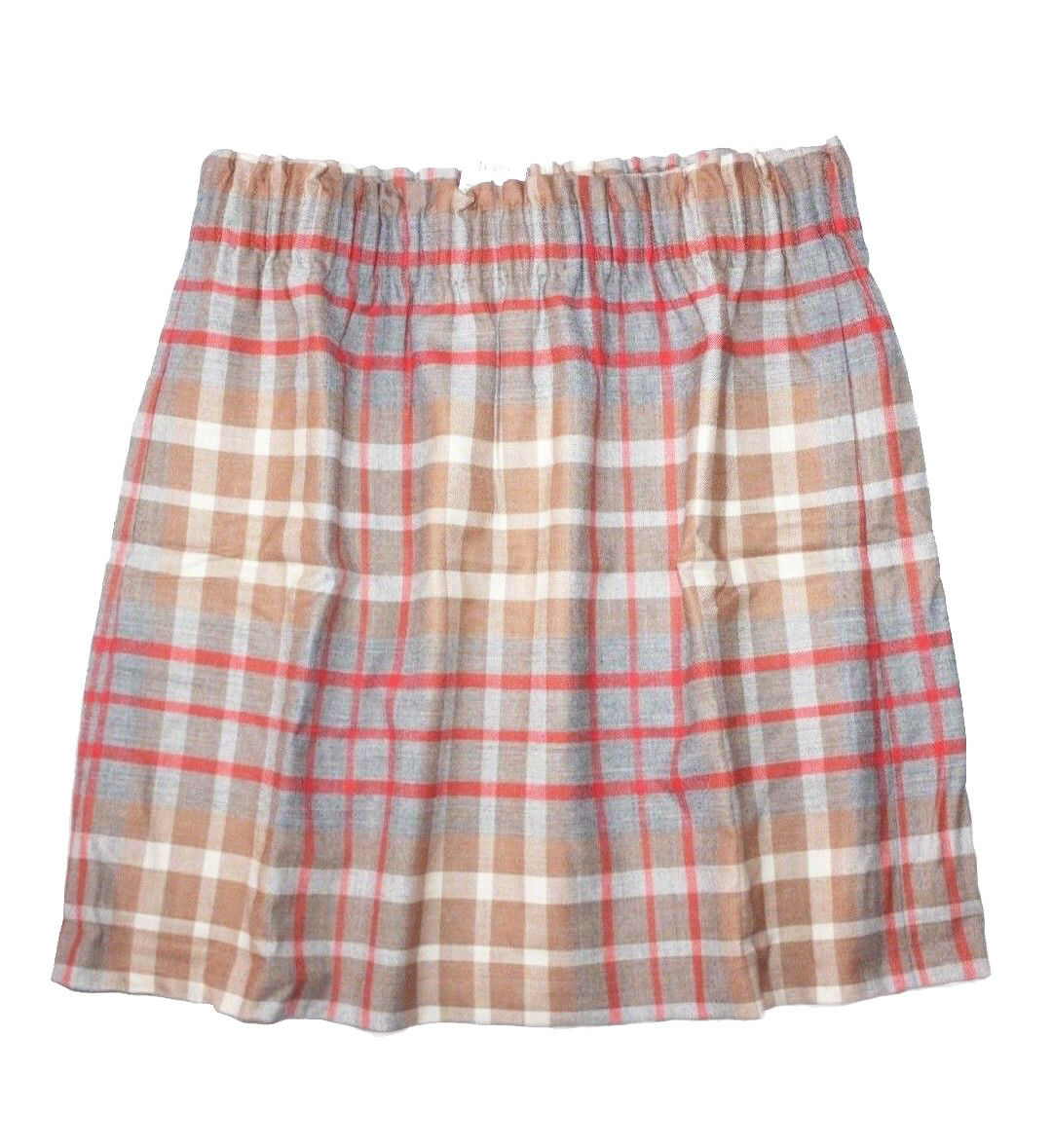 J Crew Factory - Womens 6 (S) - NWT - Plaid Wool Blend Sidewalk Pull-on Skirt