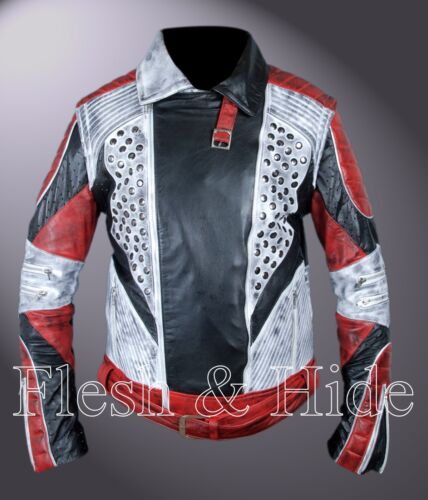 Removable Arms Distressed Carlos Cameron Boyce Descendants 2 Double Rider Jacket