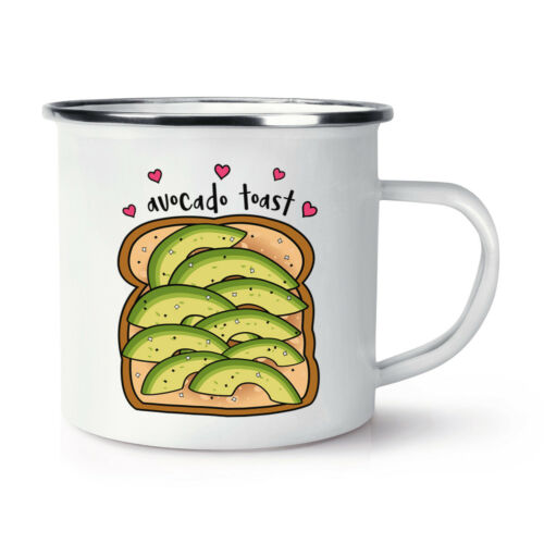 Avocado Toast tranchés Rétro émail Tasse-Drôle Blague Camping