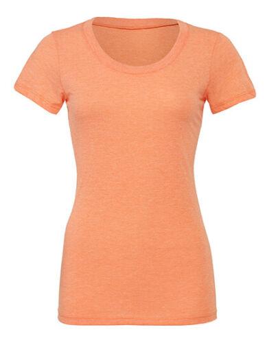 Damen Melange T-Shirt Rundhals Shirt Longshirt länger geschnitten