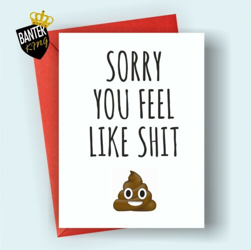 G8 GET WELL FEEL BETTER SOON GREETING CARD FUNNY CUTE CHEEKY HUMOUR LOVE SORRY