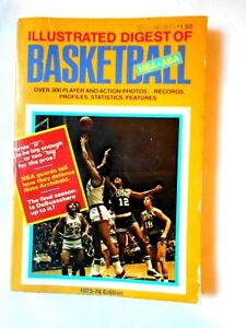 1973-74-ILLUSTRATED-DIGEST-OF-BASKETBALL-NBA-ABA-OVER-300-PLAYERS-AND-PHOTOS-VG