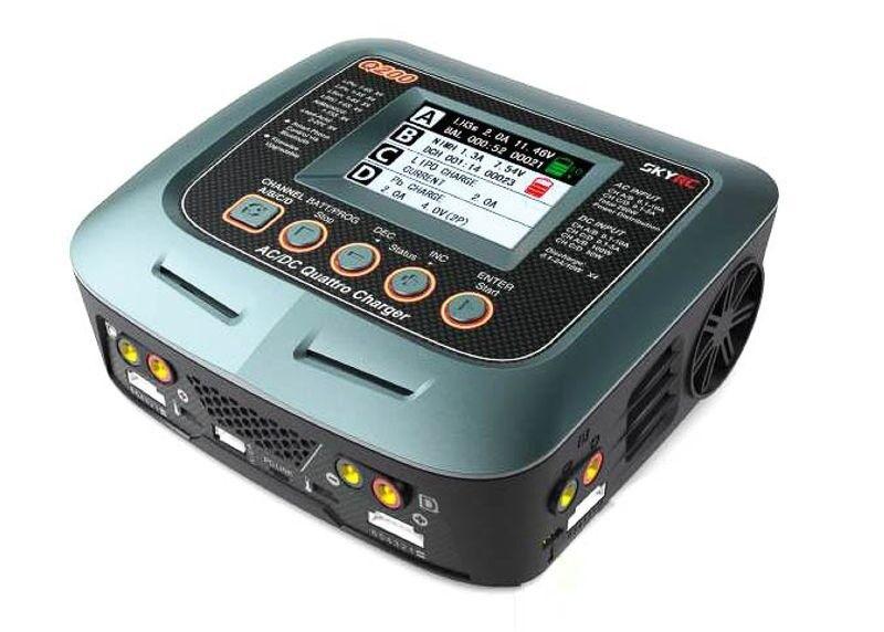 Skyrc cargador q200 ac dc 2x100w 2x50w lipo 1-6s 10a  sk100104