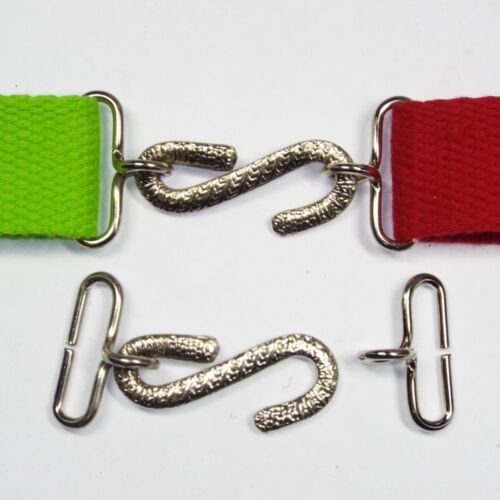 25mm Silver Coil Buckle S Shape Webbing Quick Easy Clasp Belt Strap BUY 1 2 4 8