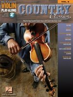 Country Classics Sheet Music Violin Play-along Book And Audio 000842230