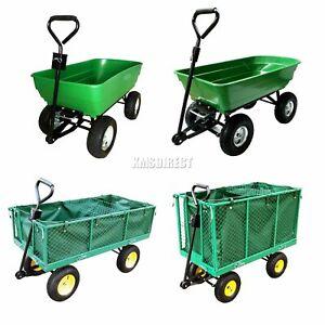 FoxHunter-Heavy-Duty-Garden-Dump-Truck-Tipping-Trailer-Trolley-Cart-Wheelbarrow