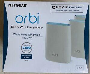 3 Pack Netgear Orbi Ac3000 Tri Band Whole Home Mesh Wi Fi