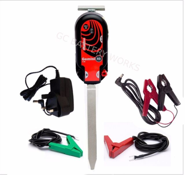 HotLine Gemini HLC40 Electric Fence Energiser Mains or Battery up to 8km