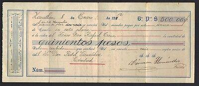Mexico 1912 Vertrag & Rechnung Mit Umsatz Briefmarken Für Zahlung Von 600 Pesos Hell Und Durchscheinend Im Aussehen Nordamerika