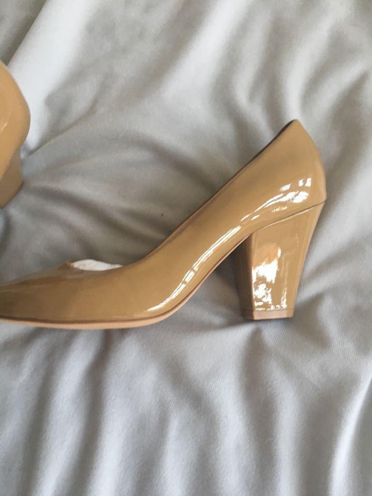 NEW Phase WERE Eight Caramel Braun Shiny Heels Größe 4 WERE Phase 01f148