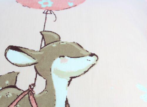 Kids Junior Pink Float Away Quilt Duvet Cover Set Animals Children Bedding Linen