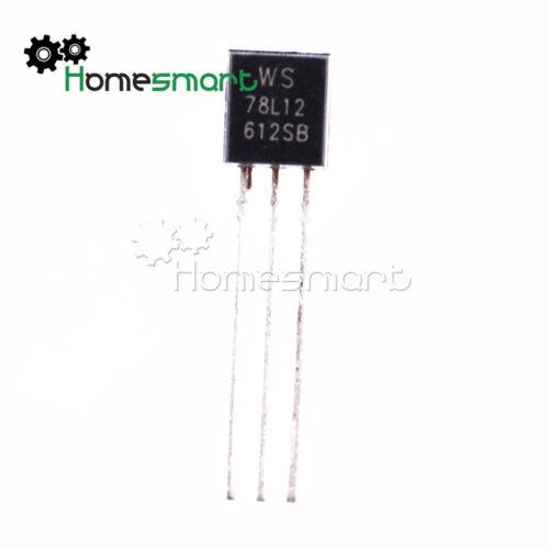 Voltage Regulator 5V-12V 100mA 78L05-78L12 WS78L05-WS78L12 78L08 78L09 TO-92 AHS