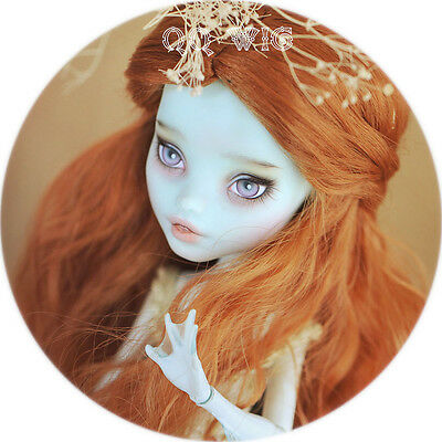 QQ8-02 5~6 inch,13~15cm head circa Synthetic Mohair BJD wig Monster High Doll
