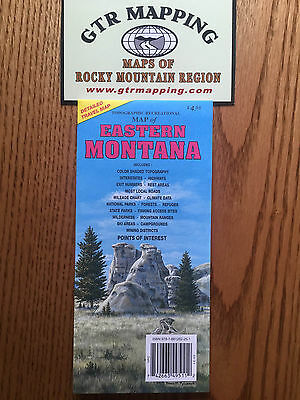 GTR Mapping Topo Recreational Map of Eastern Montana  ISBN 978-1881262-251