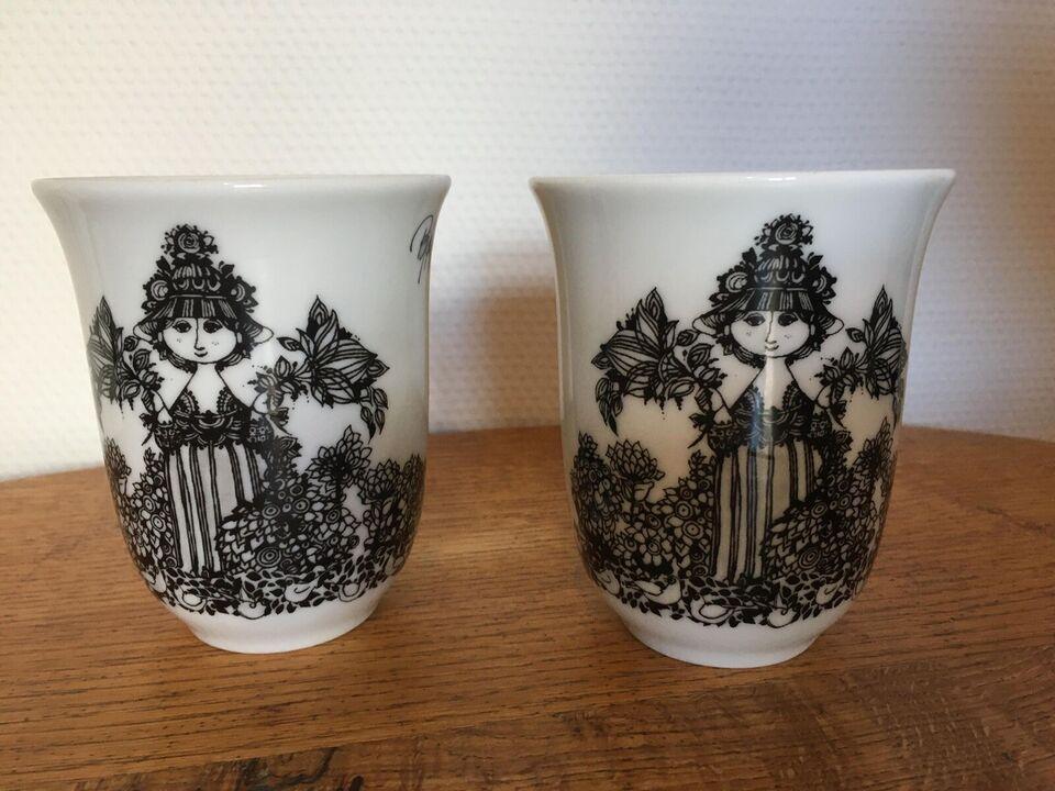 Porcelæn, Bjørn Wiinblad Cecilia Termokrus. 2 stk.
