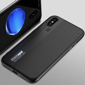 custodia carbonio iphone x silicone