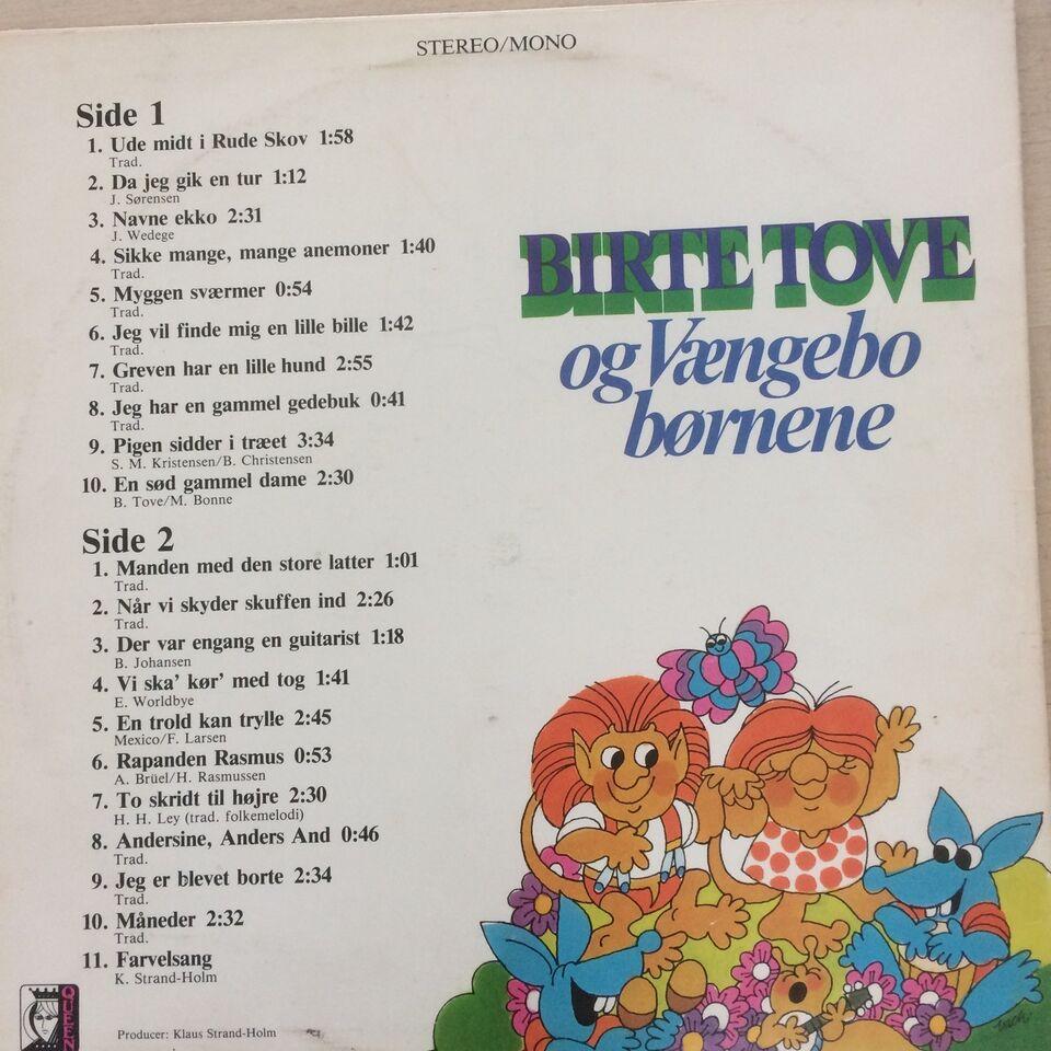 LP, Birte Tove og Vængebo børnene, Børne-LP