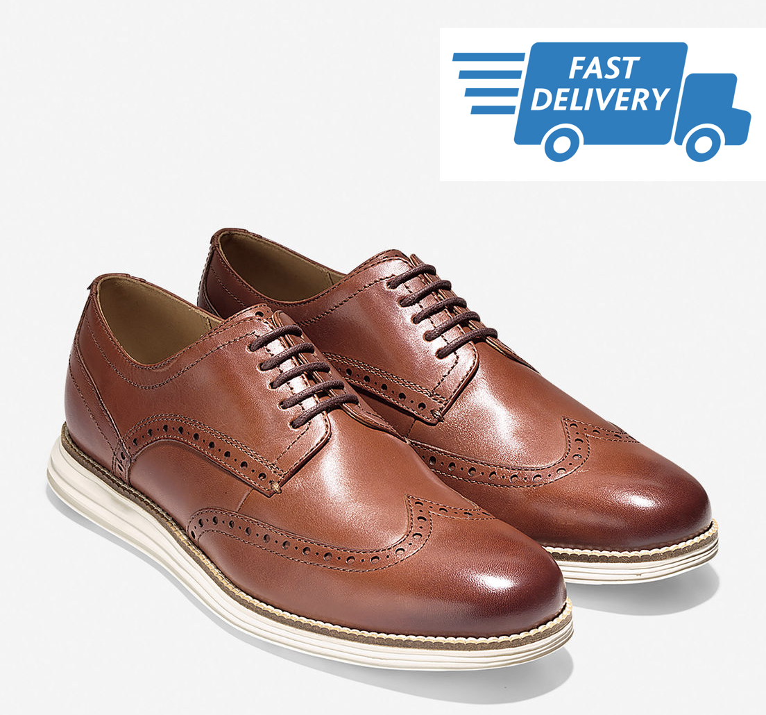 COLE HAAN Original GRAND para Hombres zapatos punta del ala Oxford Woodbury C26471-Nuevo