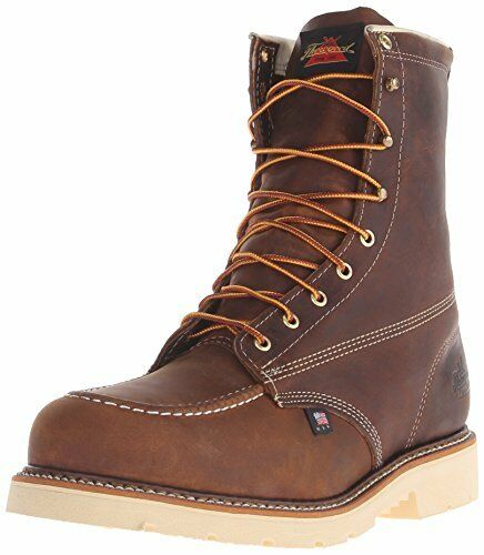 311b30ef3e7 Thorogood Mens Heritage Brown Leather EH BOOTS 8in MOC Steel Toe 10 D  Medium (d M)