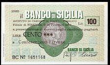 BANCO DI SICILIA 14/2/1977 CONFESERCENTI FIRENZE L.100 FDS