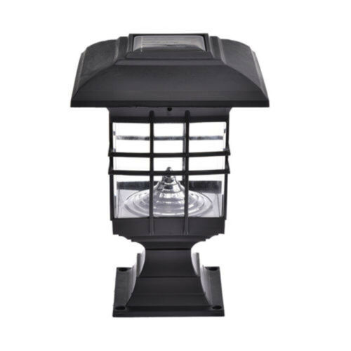 Waterproof-Outdoor LED Solar Power Lantern Light Yard Landscape Pillar Post Lamp