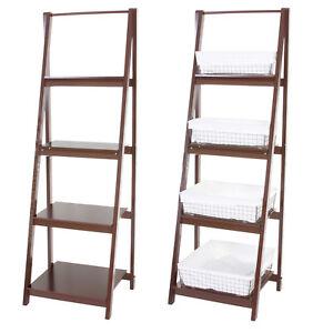 leiterregal mit 4 k rben leiterregal tanta badregal. Black Bedroom Furniture Sets. Home Design Ideas