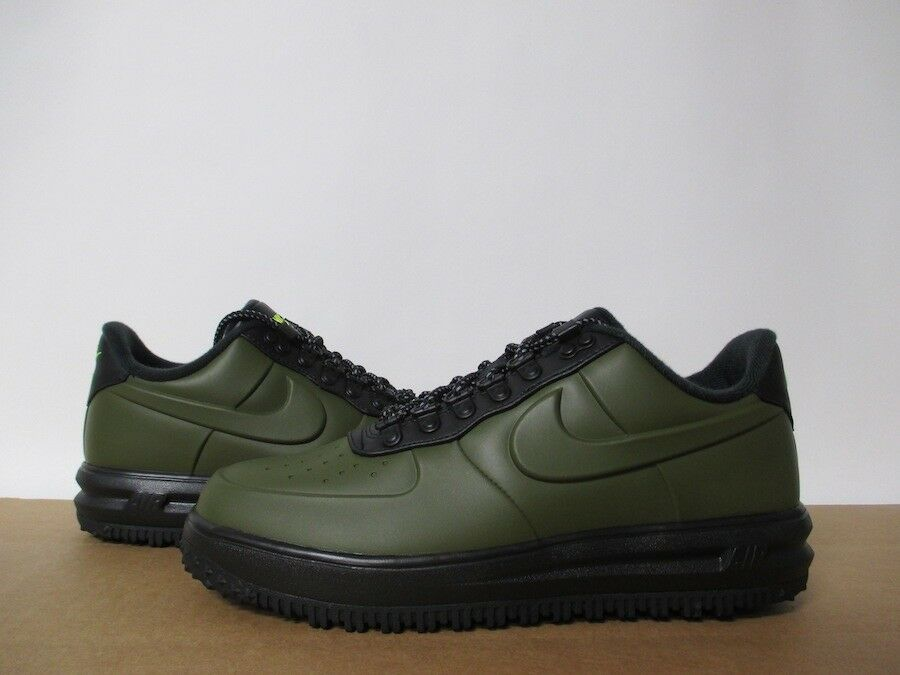 NIKE AIR FORCE 1 LF1 DUCKStiefel LOW OLIVE CANVAS Grün schwarz SZ 8-14