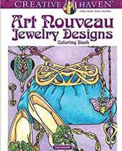 Creative Haven Art Nouveau Jewelry Designs Coloring Book (Colouring Books), New