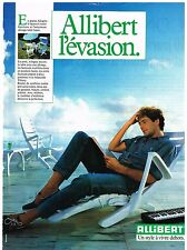 Publicité Advertising 1984 Le Mobilier de Jardin Allibert