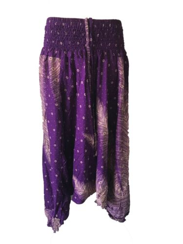 Gypsy Hippie Aladdin Hmong Baggy Patterned Harem Pants Men Women Hammer Trousers