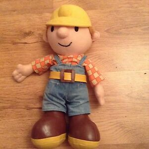 BOB THE BUILDER PLUSH TOY, 15 Inch Tall, Trousers Are Well ...