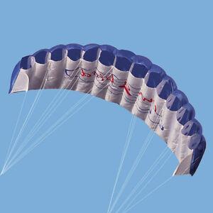Outdoor Toys Dual Line Parafoil Parachute Stunt Sport Beach Kite Blue