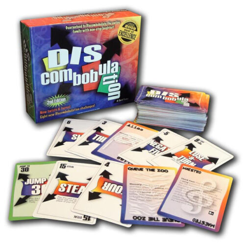 DISCOMBOBULATION 2ND EDITION FUN FAMILY /& PARTY CARD GAME CONTINUUM GAMES