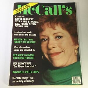 VTG McCall's Magazine February 1978 Carol Burnett, Mary Livingstone, Newsstand